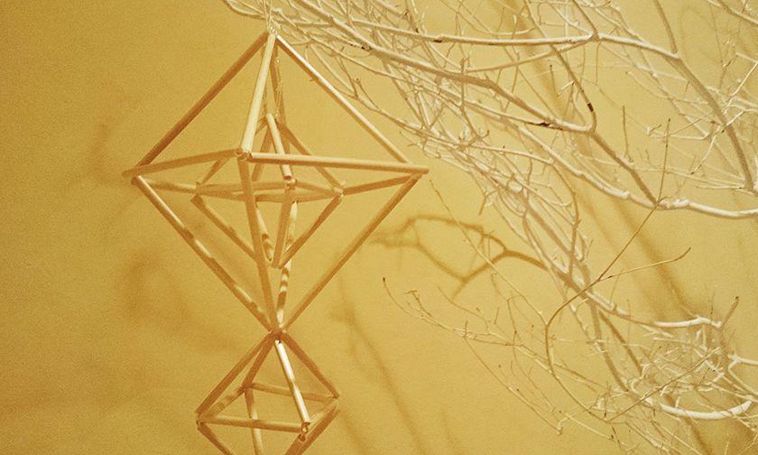 写真:空間をあたたかくする飾り「ヒンメリ」のワークショップ