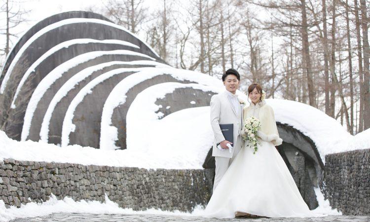 冬の軽井沢ならではの快晴と雪景色で写真もばっちり!
