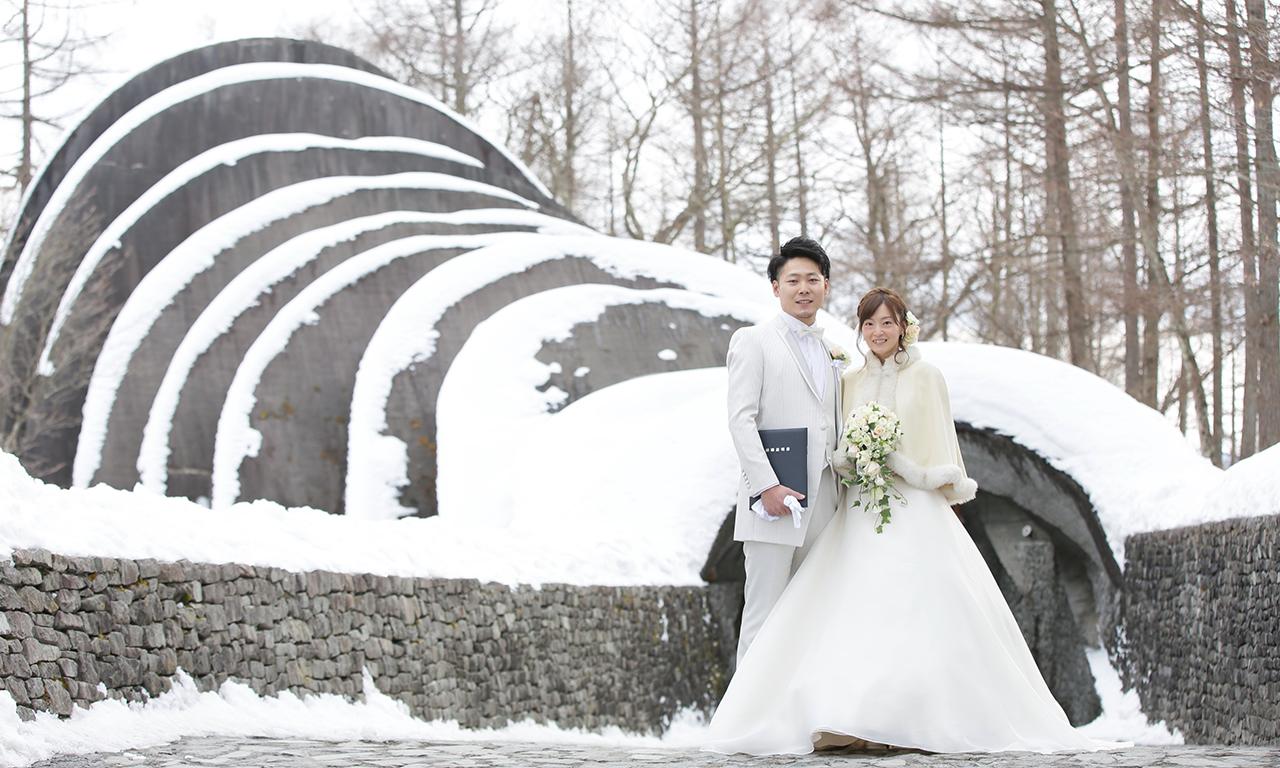 写真:冬の軽井沢ならではの快晴と雪景色で写真もばっちり!