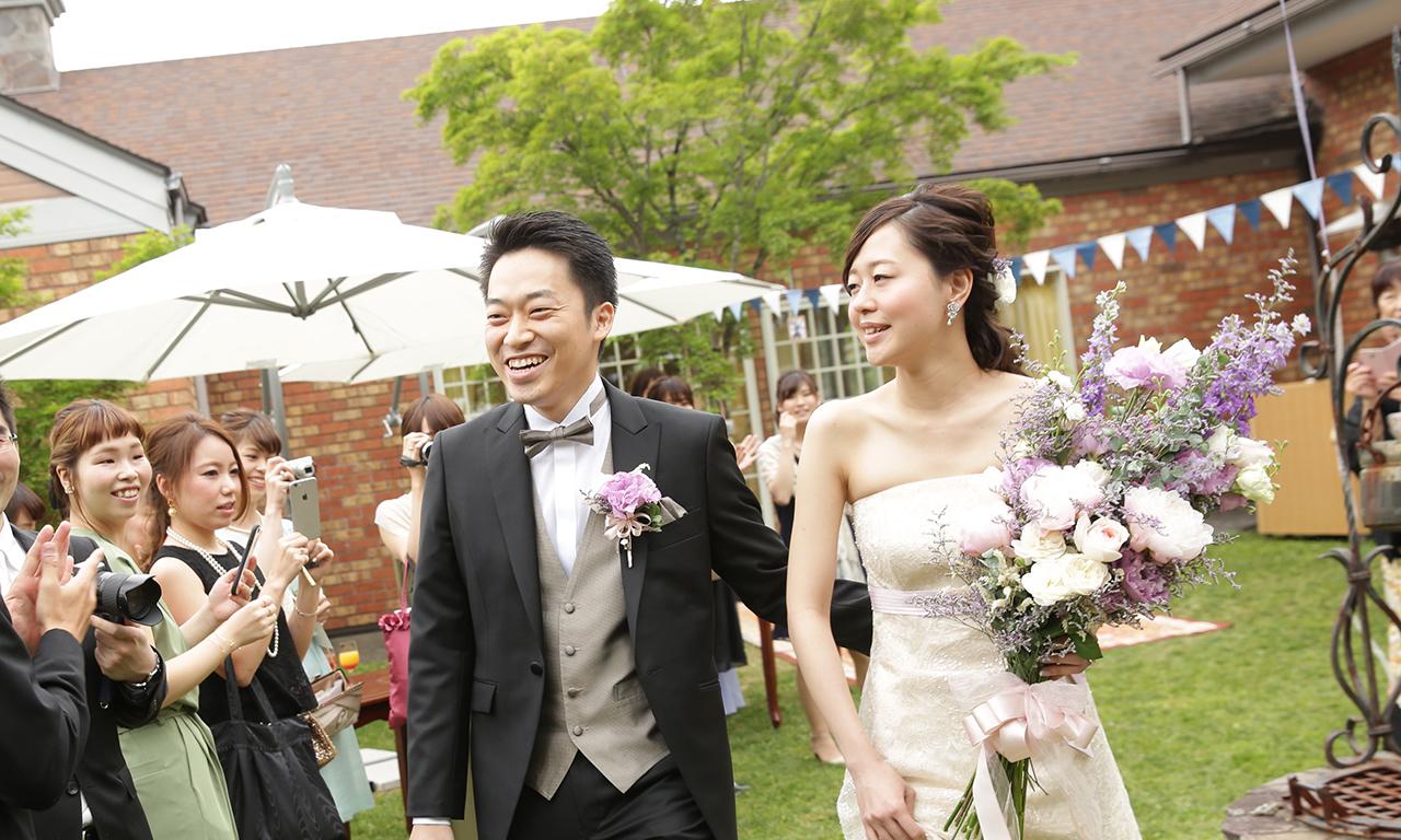 写真:装花や司会、それぞれのプロとじっくり話して成功!