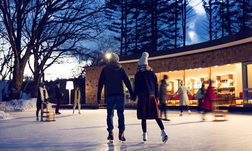写真:星空ナイタースケート