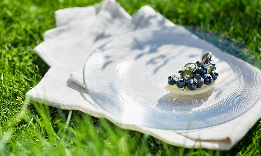 写真:ヨーグルトのような酸味のフレッシュチーズ×ブルーベリー 「ブルーベリーの丘」
