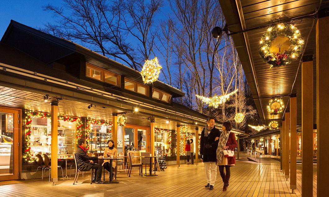 写真:クリスマスタウン軽井沢2018