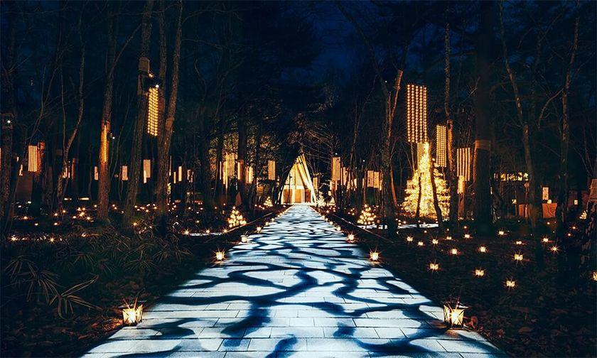 写真:ランタンキャンドルと光の十字路