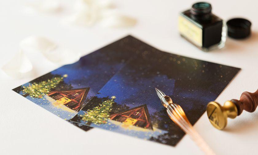 写真:想いを綴るクリスマスレター
