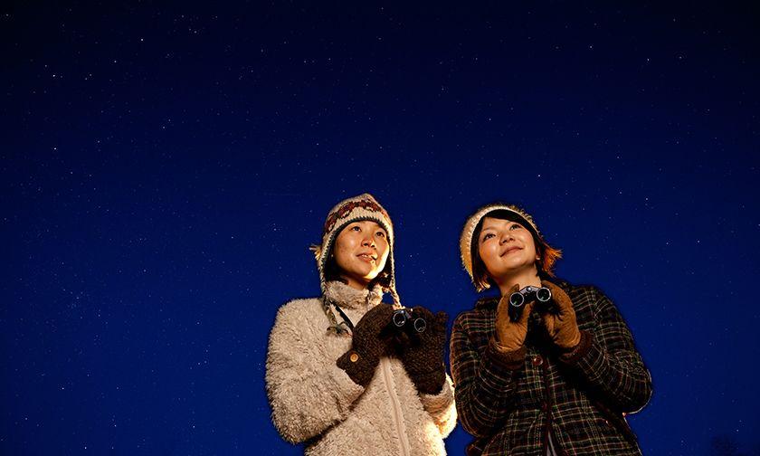 写真:降るように輝く満天の星に感動