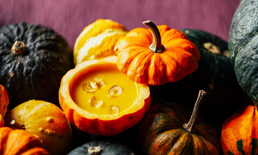 写真:1品目<ハシバミ×かぼちゃ>実りの季節