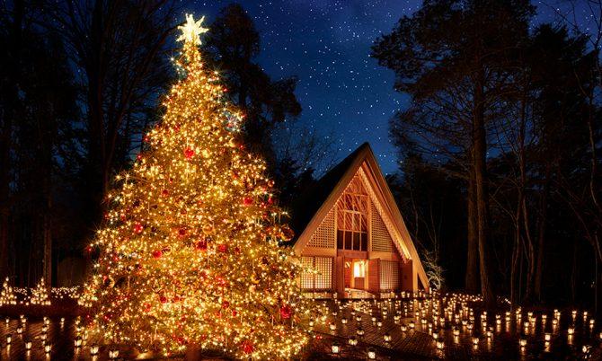 写真:軽井沢高原教会 クリスマスキャンドルナイト2017