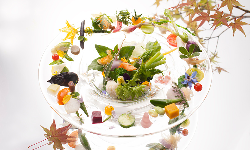 写真:前菜二品目/「秋の恵み」